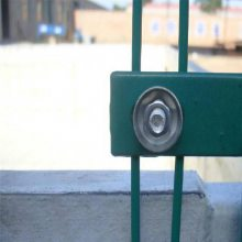 安全围栏网 杭州水库护栏 双边丝护栏网包含柱子工厂