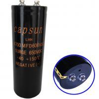 供应capsun 600V4700UF进口高压铝电解电容
