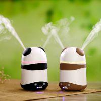 厂家直销可爱熊猫空气加湿器车载家用办公静音喷雾保湿新年礼物