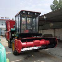 自走式象牙草靑储机 玉米秸秆收割青贮机 高粱收割机