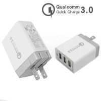 qc3.0快充充电器 手机充电器高通qc3.0 多口充电头 3口快充旅行充
