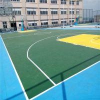 硅PU篮球场 硅PU球场地坪铺设 珠海3MM硅PU 塑胶球场地面施工
