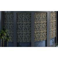 深圳铝屏风雕花加工 铝格栅加工 铝雕刻镂空花纹加工