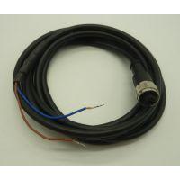 4芯5芯M12带线一体连接器M12-4P注塑成型接头