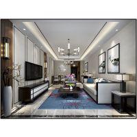铂悦庐州府141平新中式风格装修效果图半包3.87万