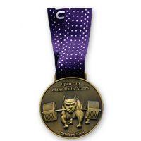 国际公益马拉松奖牌定做 健身长跑运动比赛奖章 立体浮雕金属奖牌
