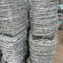 防爬刺绳 刺绳水泥立柱 防攀爬铁线