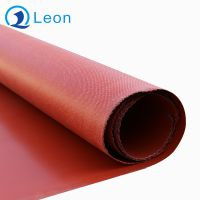 增强型加钢丝红色硅胶防火布批发定制厂家
