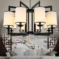 新中式吊灯 现代创意铁艺客厅LED灯饰书房卧室餐厅茶楼吊灯具批发