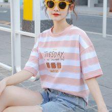 四川广元地摊货源低价女式上衣便宜女装短袖韩版宽松大版纯棉T恤低价夏季女装批发