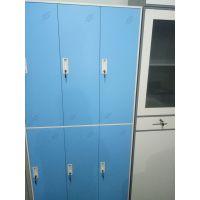 供应新疆科美KM006型新款彩色钢制更衣柜