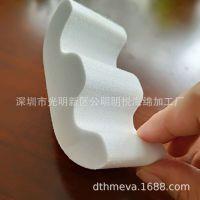 厂家定制手表泡棉枕头 白色EVA M型手表枕头 异形EVA制品线切割成