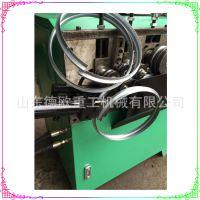 钢带打圈成型机 方向盘打圈机 液压自动切断线材卷圆机 节省人工