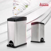 ihouse8升不锈钢脚踏垃圾桶彩色窄身不锈钢纸篓家用厨房卫生间客厅