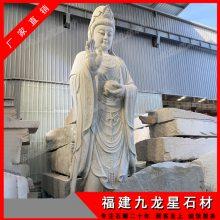 寺庙供奉石雕佛像市场行情 石材四面观音 雕刻大理石观音像