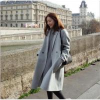 2018秋冬山东新品韩版女装秋季中长款韩国学生毛呢外套女士呢子大衣