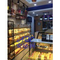 木纹中岛面包展示柜 面包柜产品图 安德利面包保鲜柜