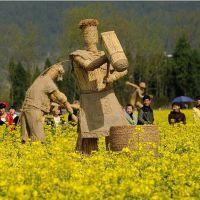 稻草人稻草工艺品 稻草卡通人物 手工制作干稻草 量大优惠