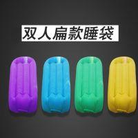 深圳双人黄色扁款空气沙发单口快速充气睡袋便携式户外沙滩懒人沙发床