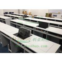 科桌厂家批发浅灰色翻转电脑桌 单人双人三人培训桌 做工精细,外形美观