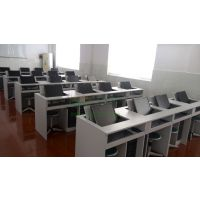 电教室电脑培训桌 翻转电脑桌 多媒体机房办公桌 科桌