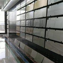 铁板本色长方孔板 瓷砖展示架样品展厅 沧州市陶瓷展厅洞洞板装饰