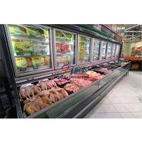 超市双温子母柜,上冷藏下冷冻展示柜,水饺元宵速冻冷柜
