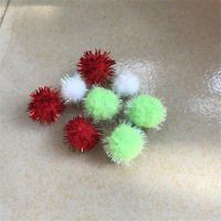 红色金葱球白色毛毛球绿色毛球饰品吊球