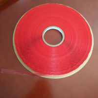 Sunjia/双佳工厂供应夏季易撕14红膜PE封缄胶带,足5厘胶纸,塑料袋封口胶条,环保双面自粘胶