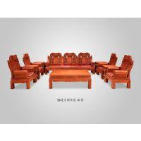 重庆精品厂家批发红木家具价格表缅甸花梨大果紫檀大奔沙发10件套