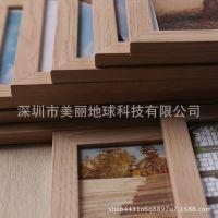 木条九联框仿实木相框7寸摆台桌摆挂墙双层儿童影楼婚纱相框定制
