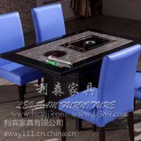 上海酒店火锅餐桌 西餐厅火锅店大理石餐桌 定制