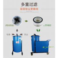 浙江纺织行业专用吸毛绒纤维吸尘器 威德尔120L工业吸尘器