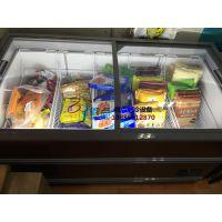 冷冻食品批发超市展示柜,株洲便利店速冻水饺柜,徽点1.5米圆弧岛柜价格