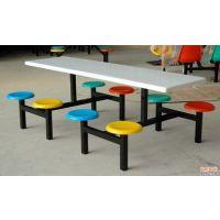 斗门6人员工食堂玻璃钢餐桌椅尺寸 珠海8人分体玻璃钢餐桌椅批发