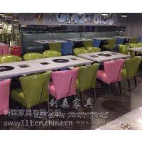 珠海火锅餐桌定制批发 时尚酒店餐厅圆形大理石火锅桌