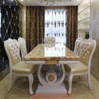厂家直销大小户型餐桌北欧现代简约实木长方形餐桌椅组合会议桌定制