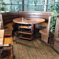 苏州火锅餐桌卡座组合 海底捞小肥羊同款无烟饭店火锅餐桌椅现代中式