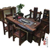 老船木家具博古架茶桌办公桌椅子茶几长凳沙发大吧台定制