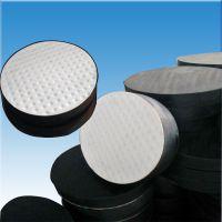供应桥梁橡胶支座板式圆形防震垫GYZ滑动盆式四氟矩形减震垫