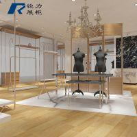 服装店上墙展示架个性创意吊架悬挂式侧挂架金色挂衣架女装定做