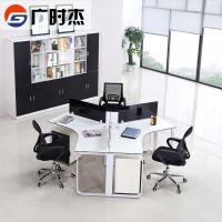 广州办公家具简约现代职员办公桌钢架组合3人6人位员工桌