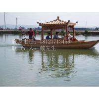 画舫餐饮船哪里有 【楚风木船】制造 供应观光木船 规格大小定制