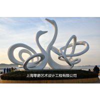 不锈钢天鹅雕塑-户外园林景观摆件-上海创意仿真动物景观定制