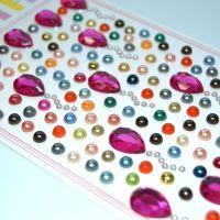 儿童玩具水晶贴纸 环保玩具DIY手工贴钻贴图贴画弘达饰品源头厂家