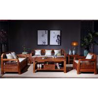 苏作新中式实木家具刺猬紫檀沙发6件套