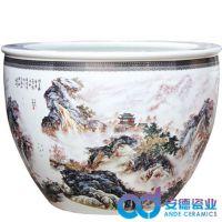 陶瓷大水缸 陶瓷大缸图片价格 家居客厅摆设陶瓷鱼缸