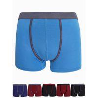 男士内裤竹纤维运动型纯色平角内裤7706 中山内裤生产厂家