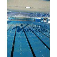 广东健身房拼装式恒温泳池安装价格/拆装式钢结构游泳池泳池/广州纵康