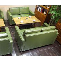 休闲餐厅双人沙发咖啡厅沙发